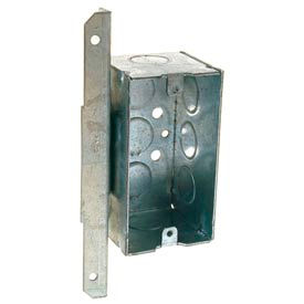 "Hubbell 671 Handy Box 4""X2"", 2-1/8""D, 1/2""End Knockouts, Stud Face Mount Bracket,Welded - Pkg Qty 50"