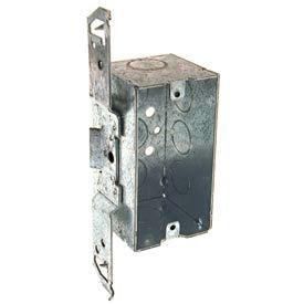 "Hubbell 678 Handy Box 4""X2"", 2-1/8"" D, 1/2"" End Knockouts, Stud Bracket, Welded - Pkg Qty 50"