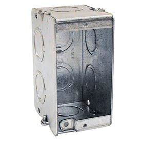 "Hubbell 688 Masonry Box, 1 Gang, Gangable, 2-1/2"" Deep, 1/2"" & 3/4"" Knockouts - Pkg Qty 20"