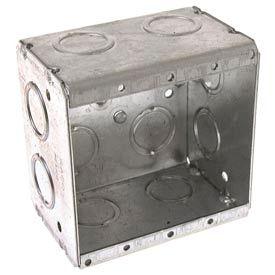 "Hubbell 691 Masonry Box, 2 Device, Non-Gangable, 2-1/2"" Deep, 1/2"" & 3/4"" End Knockouts - Pkg Qty 25"