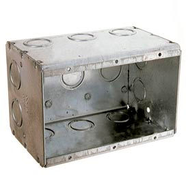 "Hubbell 692 Masonry Box, 3 Device, Non-Gangable, 2-1/2"" Deep, 1/2"" & 3/4"" End Knockouts - Pkg Qty 10"