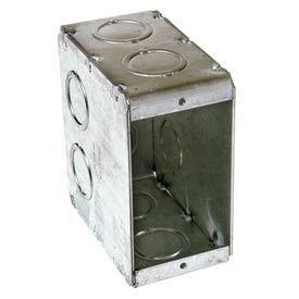 "Hubbell 695 Masonry Box, 1 Device, Non-Gangable, 3-1/2"" Deep, 1/2"" & 3/4"" End Knockouts - Pkg Qty 25"