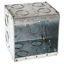 "Hubbell 696 Masonry Box, 2 Device, Non-Gangable, 3-1/2"" Deep, 1/2"" & 3/4"" End Knockouts - Pkg Qty 25"