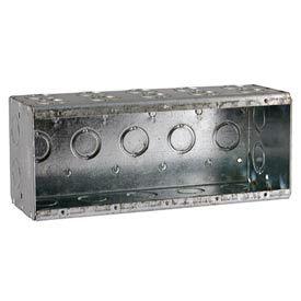 "Hubbell 699 Masonry Box, 5 Device, Non-Gangable, 3-1/2"" Deep, 1/2"" & 3/4"" End Knockouts - Pkg Qty 10"
