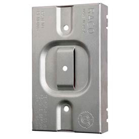 Hubbell 701r Protection Plate, Raised, To Protect 1 Device On Mudring - Pkg Qty 24