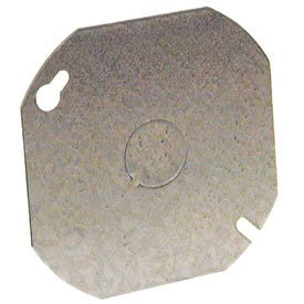 """Hubbell 724 Octagon Cover 4"""", 1/2"""" Knockout In Center - Pkg Qty 50"""