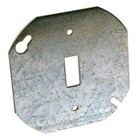 "Hubbell 729 Octagon Cover 4"", Flat Single Toggle Switch - Pkg Qty 50"