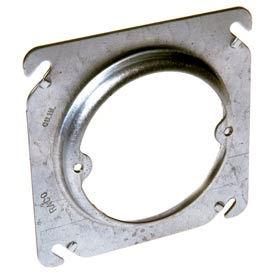 """Hubbell 758 4"""" Square Box Fixture Cover, Raised 1-1/4"""", Ears 2-3/4"""" O.C. - Pkg Qty 25"""
