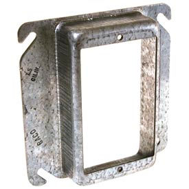 """Hubbell 771 4"""" Square Mud-Ring, For 1 Device, Raised 1/4"""" - Pkg Qty 100"""
