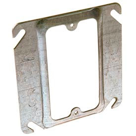 """Hubbell 772 4"""" Square Mud-Ring, For 1 Device, Raised 1/2"""" - Pkg Qty 100"""