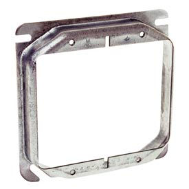 """Hubbell 781 4"""" Square Mud-Ring, For 2 Devices, Raised 1-1/4"""" - Pkg Qty 25"""