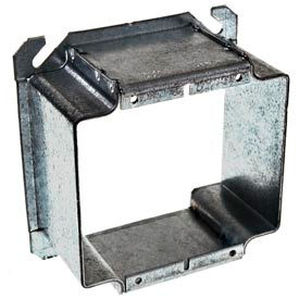 """Hubbell 796 4"""" Square Mud-Ring, For 2 Devices, Raised 2"""", For Tile - Pkg Qty 25"""