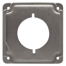"Hubbell 810c 4"" Square Exposed Work Cover, 30-50a Receptacle 2.141"" Diameter - Pkg Qty 10"