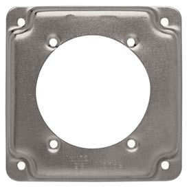 """Hubbell 813c Square Exposed Work Cover 4"""", 30a-60a Receptacle 2.625"""" Diameter - Pkg Qty 10"""