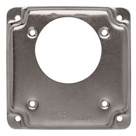 "Hubbell 815c 4"" Square Exposed Work Cover, One Receptacle 2.165 Diam. Hole - Pkg Qty 10"