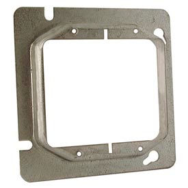 "Hubbell 820 4-11/16"" Square Mud-Ring, For 2 Devices, Raised 1-1/4"" - Pkg Qty 25"