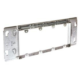 "Hubbell 823 Gang Box Mud-Ring, 4 Device, Raised 3/4"" - Pkg Qty 5"