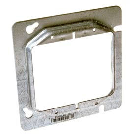 """Hubbell 841 4-11/16"""" Square Mud-Ring, For 2 Devices, Raised 1/2"""" - Pkg Qty 25"""