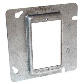 """Hubbell 843 4-11/16"""" Square Mud-Ring, For 1 Device, Raised 5/8"""" - Pkg Qty 25"""