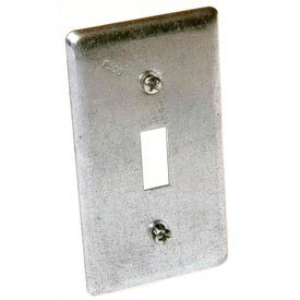 Hubbell 865 Handy Box Cover, Toggle Switch - Pkg Qty 25