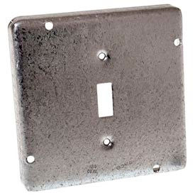 """Hubbell 870rac Square Exposed Work Cover 4-11/16"""", 1 Toggle Switch - Pkg Qty 10"""