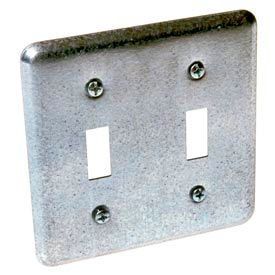 Hubbell 871 2 Device Switch Box Cover, 2 Toggles - Pkg Qty 25