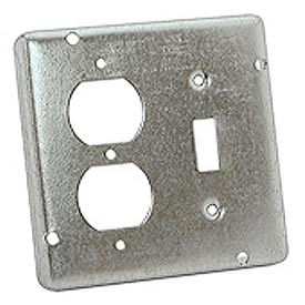 "Hubbell 876 4-11/16"" Square Exposed Work Cover, 1 Switch & 1 Receptacle, Raised 1/2"" - Pkg Qty 10"