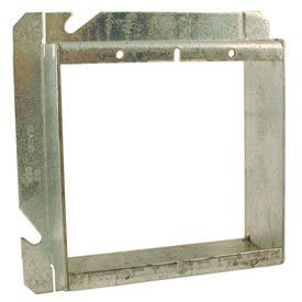 """Hubbell 885 4-11/16"""" Square Mud-Ring, For 2 Devices, Raised 1-1/2"""" - Pkg Qty 20"""