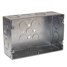"""Hubbell 941 Gang Box, 2 Device, 2-1/2"""" Deep - Pkg Qty 5"""