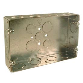 """Hubbell 951 Gang Box, 2 Device, 1-5/8"""" Deep - Pkg Qty 5"""