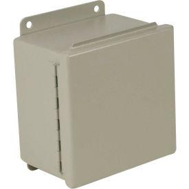 "Hubbell-Wiegmann B100804CH Junction Box, NEMA 12, Hinged Cover, 10""L x 8""W x 4""H, Steel"