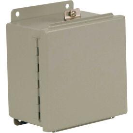 "Hubbell-Wiegmann BN4121206CH Junction Box, NEMA 4, Continuous Hinge, 12""L x 12""W x 6""H, Steel"