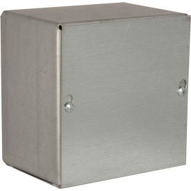 "Hubbell-Wiegmann SC080804NK Pull Box, NEMA 1, Screw Cover, 8""L x 8""W x 4""H, Painted, No KOs"