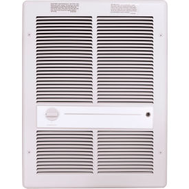 TPI Fan Forced Wall Heater H3317T2RPW - 4800W 240V White