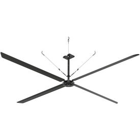 Hunter ECO 72017 - Industrial Ceiling HVLS Fan - High Volume - 180000 CFM, 18 Ft. Dia, 1 PH, 230V