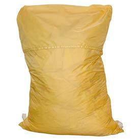 "18"" Ropeless Hamper Bag, Nylon, Yellow, Straight Bottom - Pkg Qty 12"