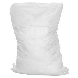 "18"" Ropeless Hamper Bag, Nylon, White, Straight Bottom - Pkg Qty 12"