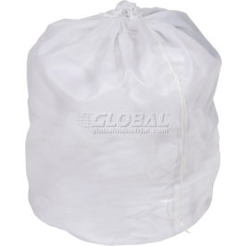 Nylon Laundry Bag - Locking Drawstring Closure and Machine Washable. These Large Bags will Fit a Laundry Basket or Hamper and Strong Enough to Carry up to Three Loads of Clothes.
