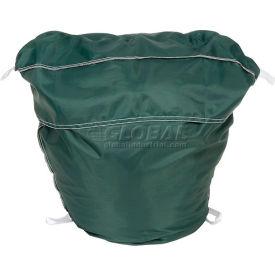 "25"" Ropeless Hamper Bag, Nylon, Green, Round Bottom - Pkg Qty 12"