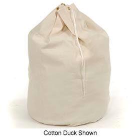 """25"""" Drawcord Hamper Bag W/ 10 Grommets, Cotton Duck, Natural - Pkg Qty 12"""