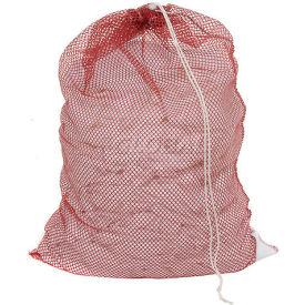 Mesh Bag W/ Drawstring Closure, Red, 18x24, Heavy Weight - Pkg Qty 12