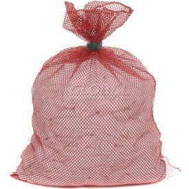 Mesh Bag W/ Dual Grip Rubber Closure, Red, 18x24, Heavy Weight - Pkg Qty 12