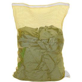 Mesh Bag W/ Nylon Zipper Closure, Yellow, 18x24, Heavy Weight - Pkg Qty 12