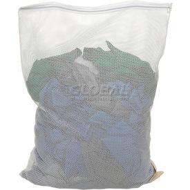 Mesh Bag W/ Nylon Zipper Closure, White, 18x30, Heavy Weight - Pkg Qty 12