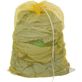 Mesh Bag W/ Drawstring Closure, Yellow, 24x36, Heavy Weight - Pkg Qty 12