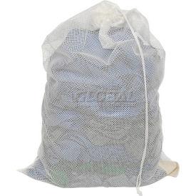Mesh Bag W/ Drawstring Closure, White, 24x36, Heavy Weight - Pkg Qty 12