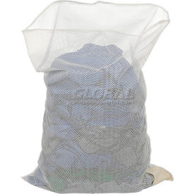 Mesh Bag W/Out Closure, White, 30x40, Heavy Weight - Pkg Qty 12