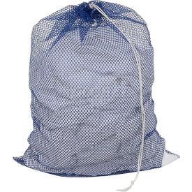 Mesh Bag W/ Drawstring Closure, Blue, 30x40, Heavy Weight - Pkg Qty 12