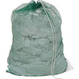 Mesh Bag W/ Drawstring Closure, Green, 30x40, Heavy Weight - Pkg Qty 12