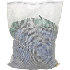 Mesh Bag W/ Nylon Zipper Closure, White, 30x40, Heavy Weight - Pkg Qty 12